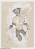 Original Comic Art:Splash Pages, Ben Templesmith - Wolverine Pin Up Original Art (2003).. TheWolverine unleashes a feral scream as he leaps, claws bared an...