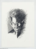 Original Comic Art:Sketches, Jim Valentino - Nightcrawler Sketch Original Art (2004).. Thatmutant with the deep blue skin (and fur), as well as a pair ...