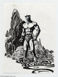 Original Comic Art:Sketches, Alan Weiss - Submariner Sketch Original Art (2004).. Alan Weiss hascreated this striking image of the regal Prince Namor e...