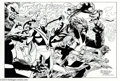 Original Comic Art:Splash Pages, J. H. Williams III - Futurians Original Art Pin Up (2004).. J.H.Williams III assembles the Futurians for an action-packed ...