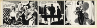 """Alex Raymond - Rip Kirby Daily Comic Strip Original Art, dated 2-1-54 (King Features Syndicate, 1954). """"Crusher&quo..."""