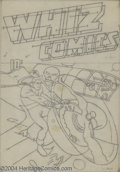 Original Comic Art:Covers, C. C. Beck - Whiz Comics #3 Cover Recreation Preliminary OriginalArt (undated). C. C. Beck has recreated the 1940 cover to ...