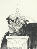 Original Comic Art:Sketches, Simon Bisley - F.A.K.K.2 Sketch Original Art (1996). Simon Bisley has drawn a powerful pencil ink portrait of the High One f...