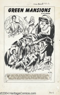 "Original Comic Art:Complete Story, Alex Blum - Classics Illustrated #90 Complete 44-page Story ""GreenMansions"" Original Art (Gilberton, 1951). Green Mansion..."