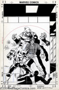 Original Comic Art:Covers, Mark Bright and Bob Layton - Iron Man #220 Cover Original Art(Marvel, 1987). Spymaster and the Ghost have the drop on Tony ...