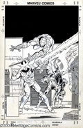 Original Comic Art:Covers, Mark Bright and Mark McKenna - Marvel Tales #199 Cover Original Art(Marvel, 1987). Spider-Man calls in his good buddy Dared...