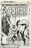 Original Comic Art:Covers, John Buscema - Conan the Barbarian #149 Cover Original Art (Marvel, 1983). John Buscema superbly inked his own magnificent p...