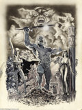 "Original Comic Art:Splash Pages, Tim Conrad - Epic Illustrated ""Almuric"" Splash Page Original Art(Marvel, 1980). Tim Conrad spotlights Esau Cairn, Iron Hand..."