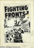 "Original Comic Art:Covers, Lee Elias - Original Cover Art for Fighting Fronts! #6 (Harvey,1953). ""Blast 'em! Ram 'em! Send the lousy Reds back to thei..."