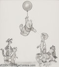 Original Comic Art:Sketches, Bill Justice - Walt Disney's Winnie the Pooh Sketch Original Art (undated). Christopher Robin and the Winnie the Pooh cast a...