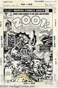 """Original Comic Art:Covers, Jack Kirby and John Verpoorten - 2001: A Space Odyssey #3 CoverOriginal Art (Marvel, 1977). """"He took the road to conquest -...(Total: 2 items Item)"""