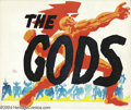 "Original Comic Art:Sketches, Jack Kirby - ""The Gods"" Illustration Original Art (undated). Jack Kirby created his own modern mythology. In the 1940s, he d..."