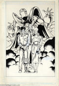 Original Comic Art:Splash Pages, Shawn McManus - Dr. Fate Pin Up Original Art (DC, 1988). ShawnMcManus' pin up of the Dr. Fate cast of characters circa 1988...