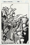 Original Comic Art:Splash Pages, Shawn McManus - Amazing Spider-Man #394 Carnage Pin Up Original Art(Marvel, 1994). A chilling double-portrait of Carnage an...