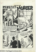 "Original Comic Art:Splash Pages, Fred Peters - War Against Crime #10, Story page 1 Original Art (EC,1949). Dramatic title splash page for the story ""Perfect..."