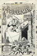 Original Comic Art:Covers, John Romita Sr. and Sal Buscema - The Amazing Spider-Man #95 CoverOriginal Art (Marvel, 1970). The Amazing Spider-Man, Amer...