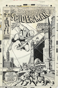 John Romita Sr. and Sal Buscema - The Amazing Spider-Man #95 Cover Original Art (Marvel, 1970). The Amazing Spider-Man...
