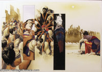 Alex Ross - Superman: Peace on Earth, double-page spread Original Art (DC, 1998). From Marvels to Kingdom Come to th