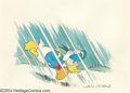Original Comic Art:Splash Pages, William Van Horn - Donald Duck Pin Up Original Art (undated).Nature-loving Donald gets caught in a storm in this recreation...(Total: 2 items Item)