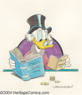Original Comic Art:Splash Pages, William Van Horn - Uncle Scrooge Pin Up Original Art (undated).Uncle Scrooge knows the proper way to keep his books -- keep...