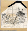 Original Comic Art:Sketches, Bernie Wrightson - Uncle Creepy Illustration Original Art (undated). Uncle Creepy enjoys a good book in his study by the lig...