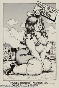 "Robert Crumb - Original Illustration ""Honey Bunch Kaminski"" (circa 1968). From the pages of Snatch Comics #1 c..."