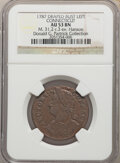 1787 Connecticut Copper, Draped Bust Left, MS, BN 53 NGC