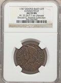 1787 Connecticut Copper, Draped Bust Left, MS, BN 55 NGC