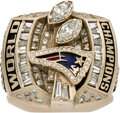 Football Collectibles:Others, 2003 New England Patriots Super Bowl XXXVIII Championship Ring Presented to Offensive Guard Damien Woody....