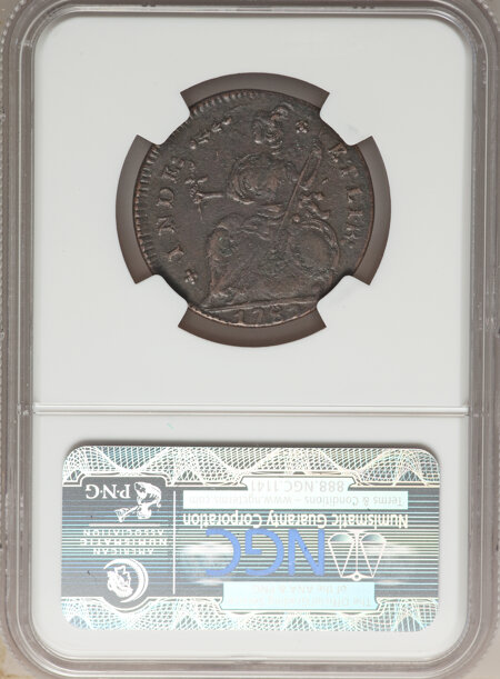 1787 Connecticut Copper, AUCIORI, MS, BN 40 NGC