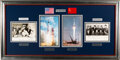 Explorers:Space Exploration, United States' Mercury Seven Astronauts and Soviet Union's First Eleven Cosmonauts in Space: Two Separate Signed Photos in Ela...