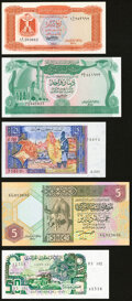 Algeria, Libya, Mauritania and Morocco Group Lot of 11 Examples Crisp Uncirculated. ... (Total: 11 notes)