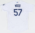 Baseball Collectibles:Uniforms, 2017 Los Angeles Dodgers Game Used & Signed Jersey....