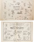 Animation Art:Model Sheet, Mr. Bug Goes to Town Studio Model Sheets Group of 23 (Max Fleischer, 1941). ... (Total: 23 )