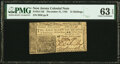 Colonial Notes:New Jersey, New Jersey December 31, 1763 12 Shillings Fr. NJ-156 PMG Choice Uncirculated 63EPQ.. ...