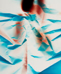 Photographs, Ellen Carey (b. 1952). Dings & Shadows, Cyan I, 2011. Dye coupler. 24 x 20 inches (61.0 x 50.8 cm). Signed, titled, and ...