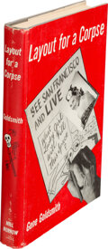 Books:Mystery & Detective Fiction, Gene Goldsmith. Layout for a Corpse. New York: M. S. Mill Co.; William Morrow & Co., 1949. First edition....