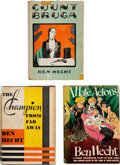 Books:Mystery & Detective Fiction, Ben Hecht. Group of Three Crime Fiction Novels. New York: Various publishers, 1926-[1944]. First editions. The Champion Fr... (Total: 3 Items)