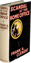 Books:Mystery & Detective Fiction, Frank A. Clement. Scandal at the Home Office. London: Longmans, Green & Co., [1937]. First edition....