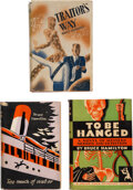 """Books:Mystery & Detective Fiction, Bruce Hamilton. Group of Three """"Suspenseful"""" Mystery Fiction Novels. Garden City and London: Various publishers, 1930-1958. ... (Total: 3 Items)"""