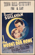 "Movie Posters:Comedy, The Moon's Our Home (Paramount, 1936). Fine/Very Fine. Window Card (14"" X 22""). Comedy.. ..."
