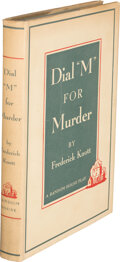 """Books:Mystery & Detective Fiction, Frederick Knott. Dial """"M"""" for Murder. New York: Random House, [1953]. First edition, first printing stated...."""