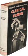 Books:Mystery & Detective Fiction, Anthony Rolls. Clerical Error. Boston: Little, Brown & Co., 1932. First American edition....