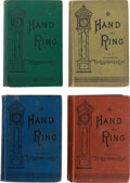 Books:Mystery & Detective Fiction, Anna Katharine Green. Hand and Ring. New York: Putnam, 1883. Four copies of the first edition (various color cloth b... (Total: 4 Items)