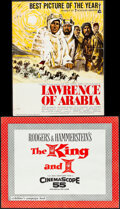 """Movie Posters:Academy Award Winners, Lawrence of Arabia & Other Lot (Columbia, 1963). Folded, Overall: Fine. Cut Pressbooks (2) (Multiple Pages, 14"""" X 17.5"""" & 14... (Total: 2 Items)"""