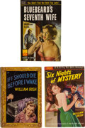 Books:Mystery & Detective Fiction, William Irish. Lot of Three Paperback Early Editions. New York: [various publishers], 1946-1952. ... (Total: 3 Items)