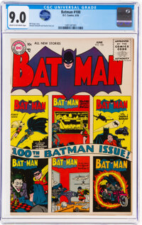 Batman #100 (DC, 1956) CGC VF/NM 9.0 Cream to off-white pages