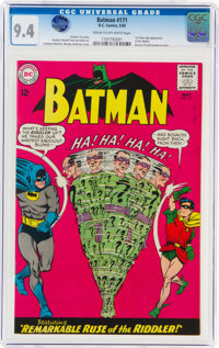 Batman #171 (DC, 1965) CGC NM 9.4 Cream to off-white pages