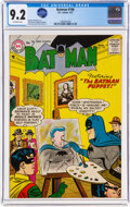 Silver Age (1956-1969):Superhero, Batman #106 (DC, 1957) CGC NM- 9.2 Off-white pages....