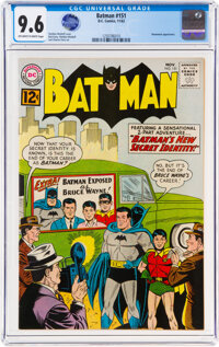 Batman #151 (DC, 1962) CGC NM+ 9.6 Off-white to white pages